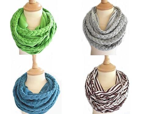 cea412b7aaeb96 Anna York Designer Flecht-Loop-Schal aus Bio-Baumwolle, Hergestellt in  Deutschland