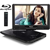 NAVISKAUTO 12 inch Portable Blu Ray DVD Player with Rechargeable Battery Support HDMI Out MP4 1080P Dolby Audio Sync…