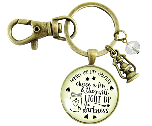 Amazon.com  Firefly Keychain Dreams Are Like Fireflies Southern Inspired  Country Girl Pendant Lantern Rustic Womens Jewelry  Handmade 406a298d2cb9c