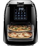 Chefman 6.3 Quart Digital Air Fryer+ Rotisserie, Dehydrator, Convection Oven, 8 Touch Screen Presets Fry, Roast…