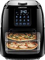 Chefman 6.3 Quart Digital Air Fryer+ Rotisserie, Dehydrator, Convection Oven, 8