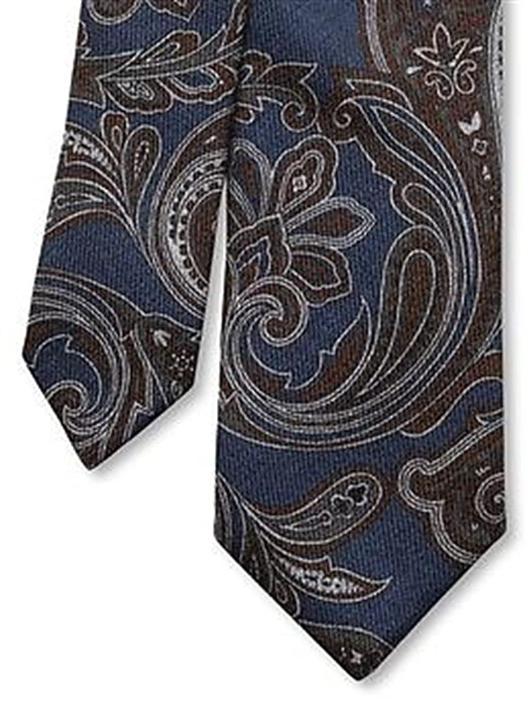 BANANA REPUBLIC Blue Brown paisley 100/% Wool Skinny NECK TIE MENS