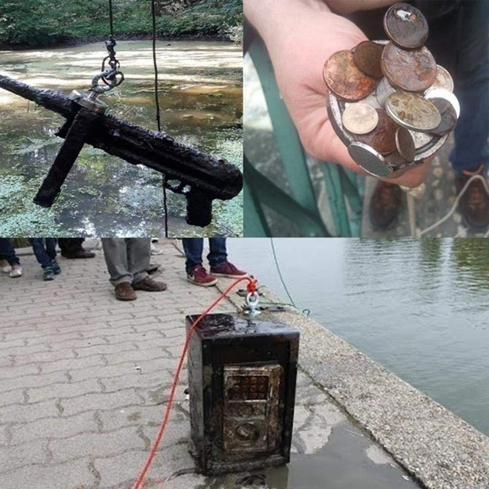 Magnetico Permanente 150 kg 200kg Aspirazione Verticale 80 kg didatecar Potente Magnete di Salvataggio Magnete da Pesca A Doppia Faccia 120 kg