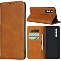 """Cavor for Oppo Find X2 Pro Case,Cowhide Pattern Leather Case Magnetic Wallet Cover with Card Slots(6.7"""") -Light Brown"""