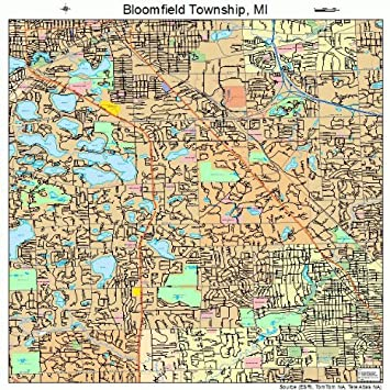 Bloomfield Michigan Map.Amazon Com Large Street Road Map Of Bloomfield Township Michigan