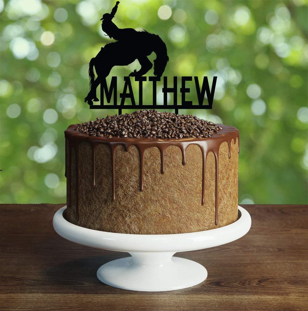 Cowboy birthday Cake Topper Customizable birthday cake topperparty ...