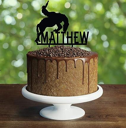 Decoración para tarta de cumpleaños de Cowboy ...