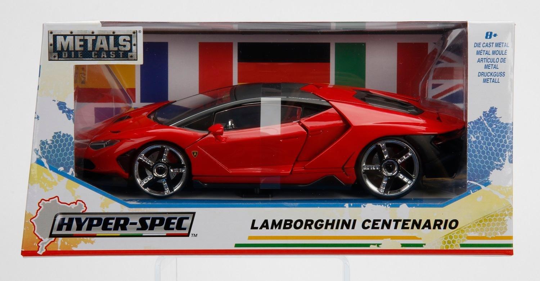 NEW 1 24 W B JADA TOYS COLLECTION Hyper Spec Red Lamborghini Centenario Diecast Model Car By Jada Toys
