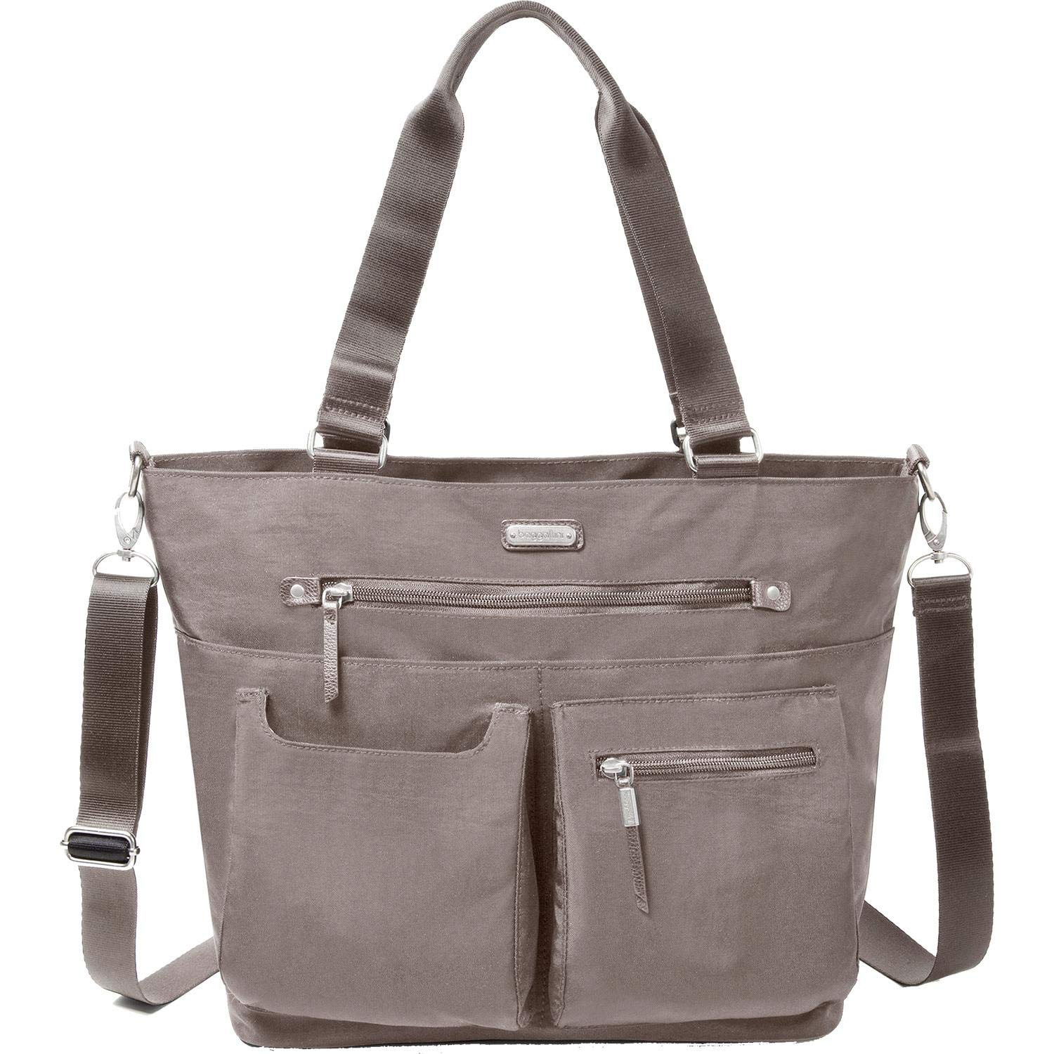baggallini Any Day Tote with RFID Phone Wristlet (Sterling Shimmer)