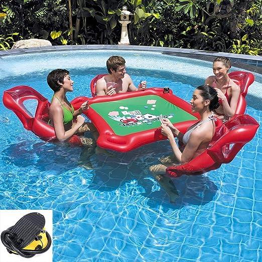 Fila Flotante Inflable, Mesa De Inflable Gigante Mahjong Poker Y 4 ...