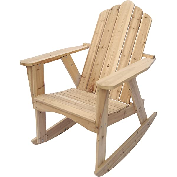 Stonegate Designs Wooden Adirondack Rocking Chair — Unfinished