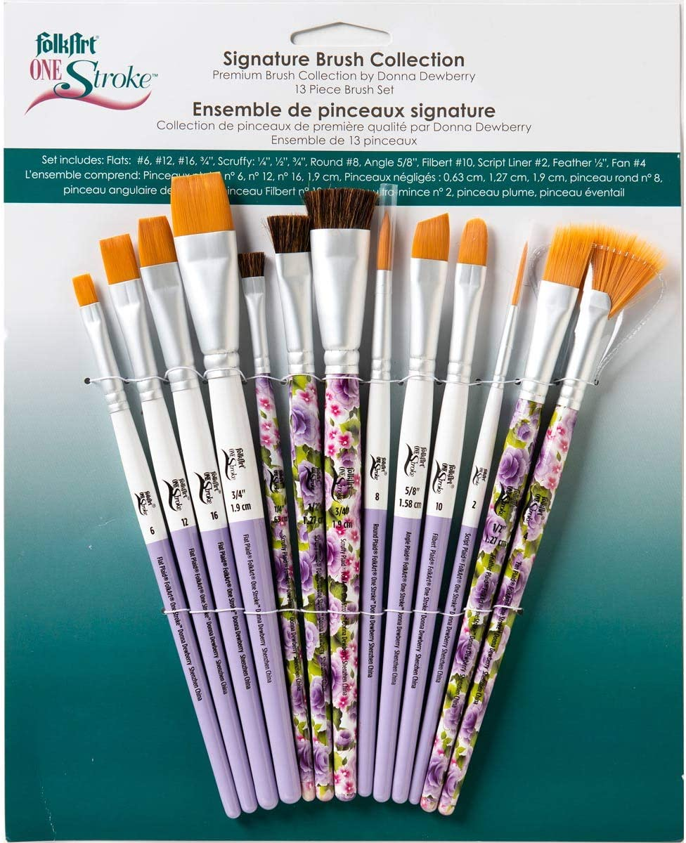 4 Donna Dewberry RTG/'s 2 One Stroke Brushes