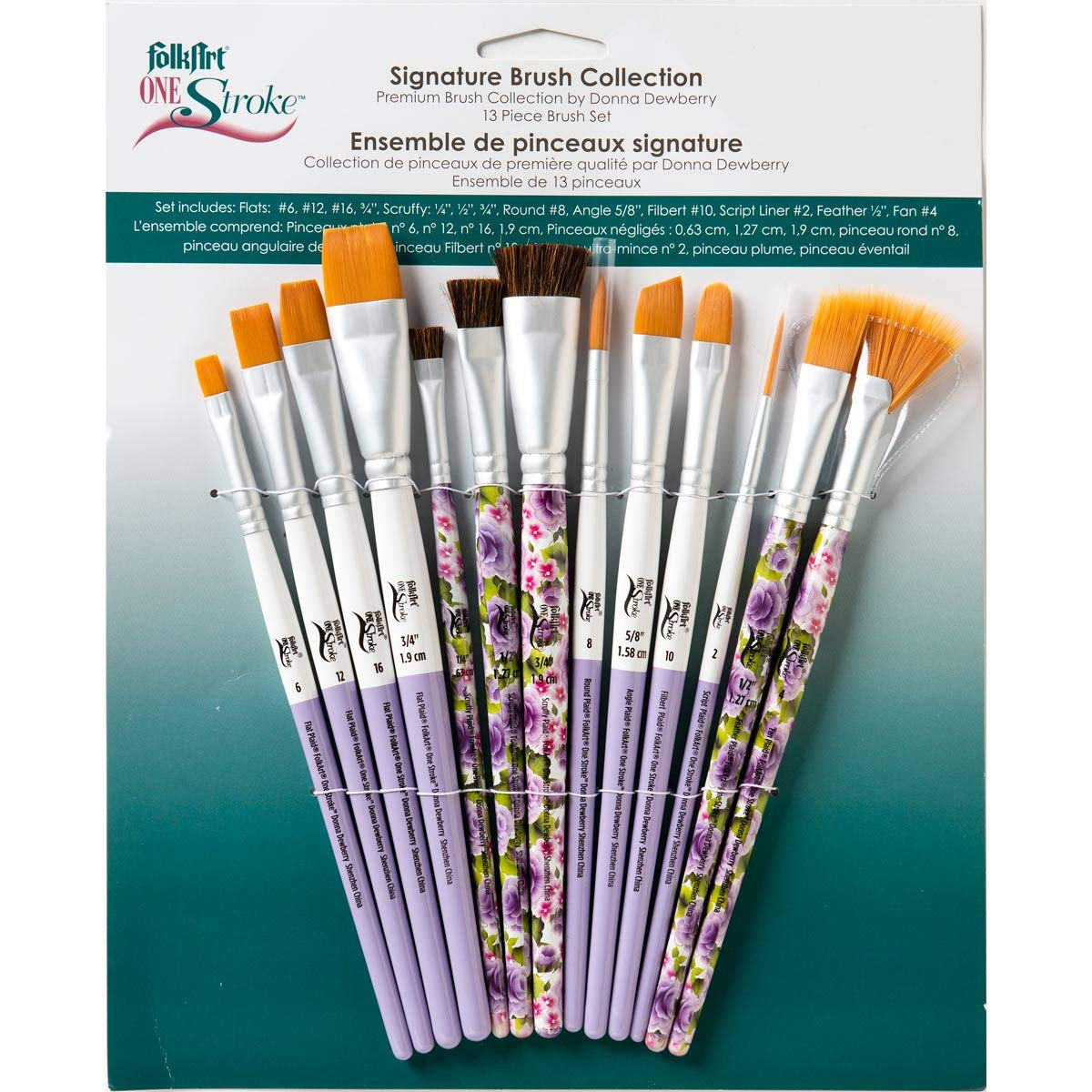 FolkArt One Stroke 1900 Signature Collection Paint Brush Set, 13 Piece by FolkArt One Stroke