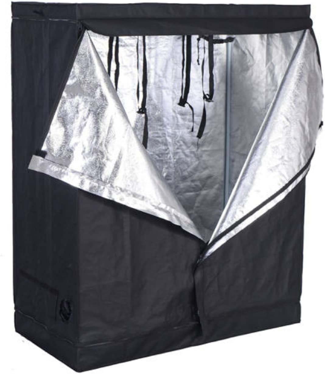 48 x24 x60 Grow Tent Non Toxic Reflective Mylar Room Box 48 x24 x60 Indoor Plant Hut Hydroponic
