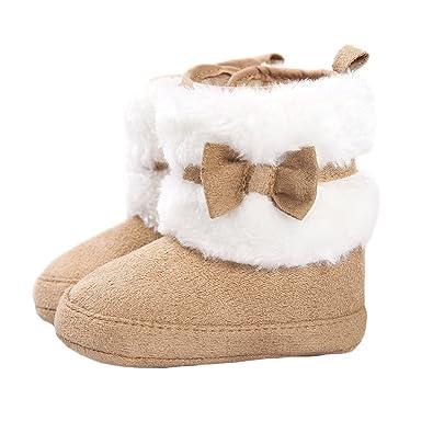 new product ffb4e 839bd Matt Keely Baby Mädchen Bowknot Schneestiefel Weiche Sohle Winter warme  Schuhe Booties