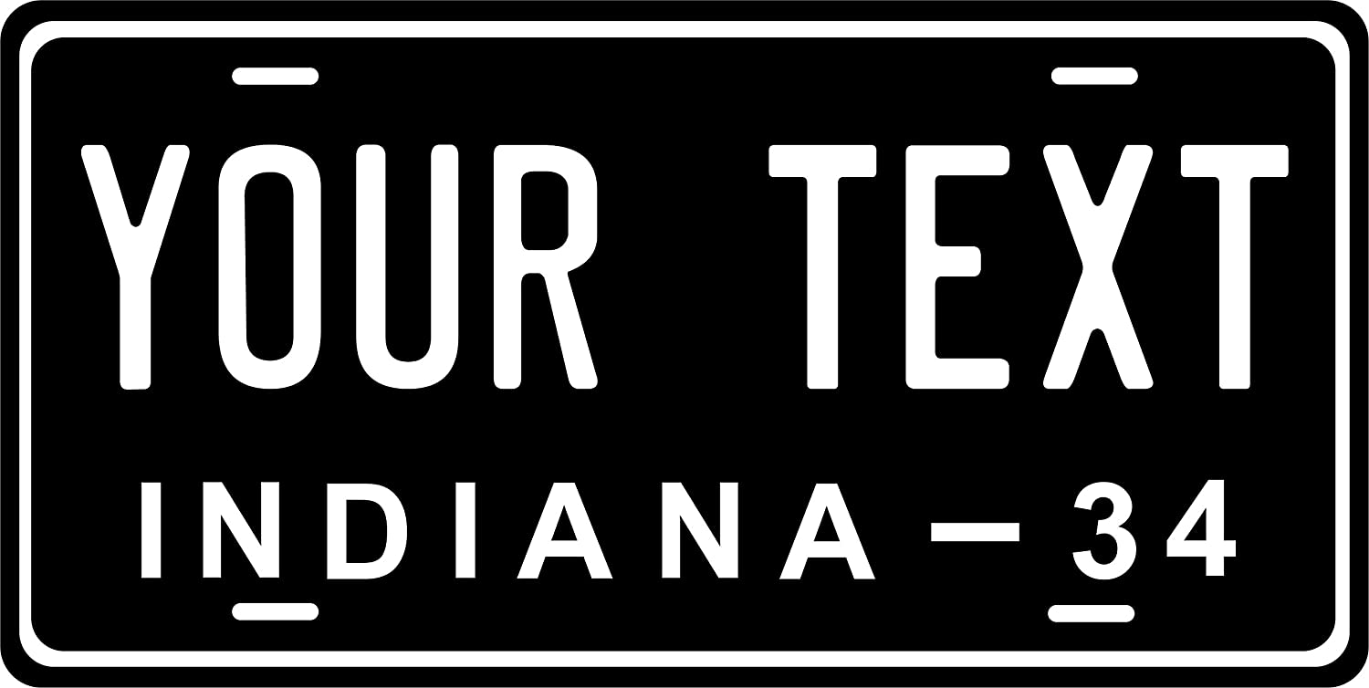 Indiana 1934 License Plate Personalized Custom Car Bike Motorcycle Moped