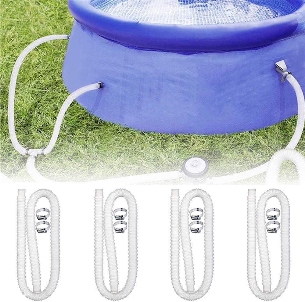 bomba de alberca manguera de repuesto para piscinas con 2 abrazaderas de metal 1 manguera de alberca accesorio de lavado BestAAA