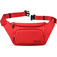 Fanny Pack/Waist Pack Bag for Women, FREETOO Waterproof Nylon Bum Bag, Fits Phones Up to 6.5'', for Shopping,Walking,Travel