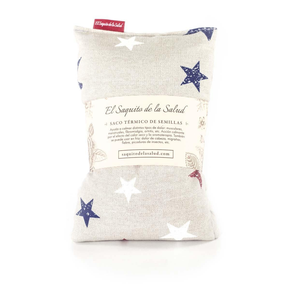 Saco Térmico de Semillas aroma Lavanda, Azahar o Romero tejido Gris con Estrellas (Azahar, 50 cm): Amazon.es: Hogar