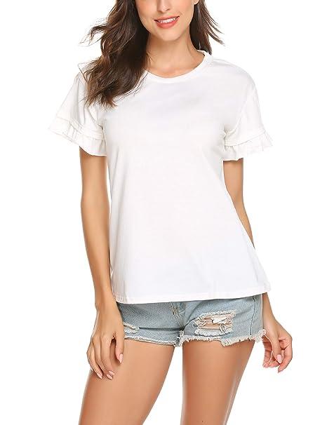 Amazon.com: ELESOL - Camiseta de manga corta para mujer ...