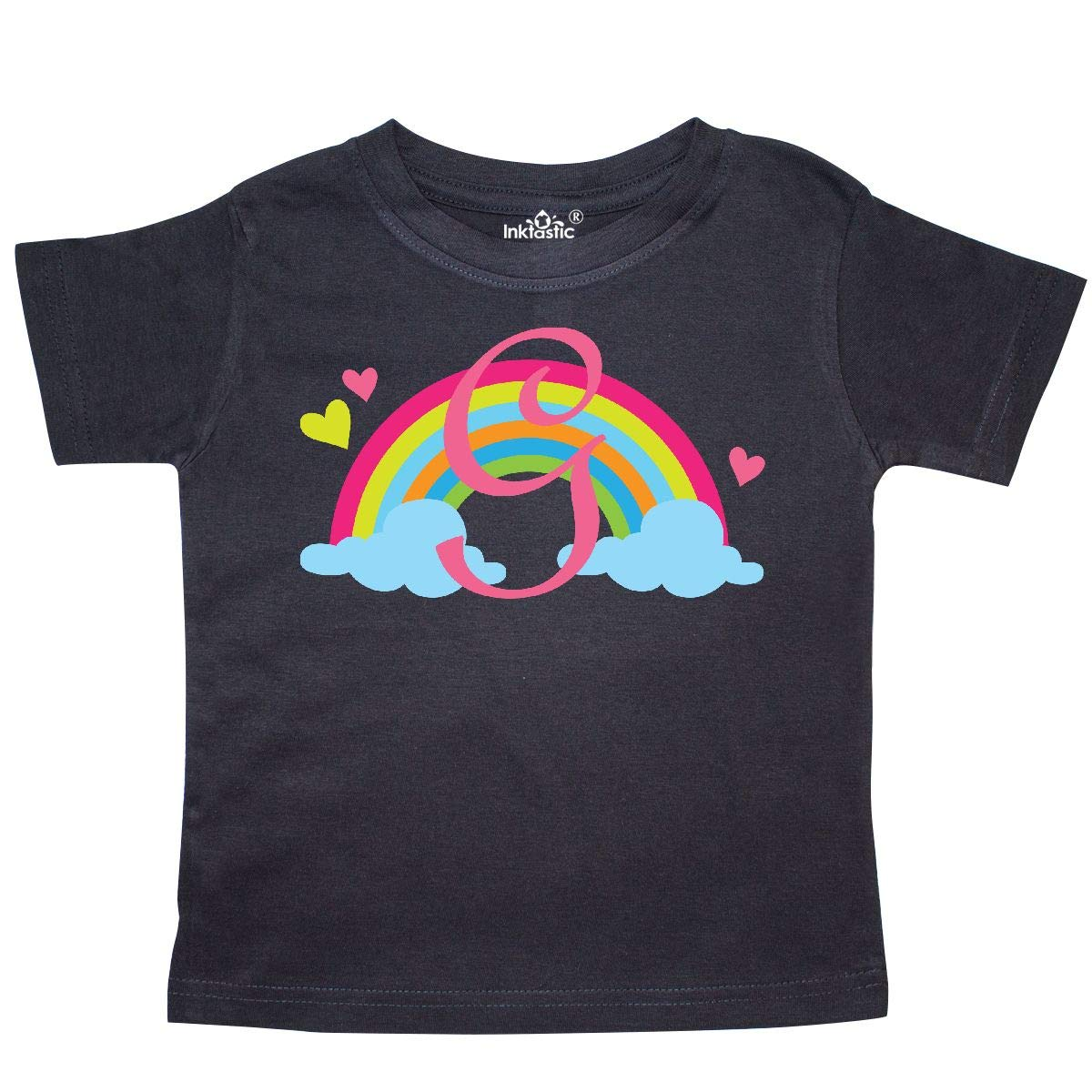 inktastic Monogram Letter G Rainbow Toddler T-Shirt