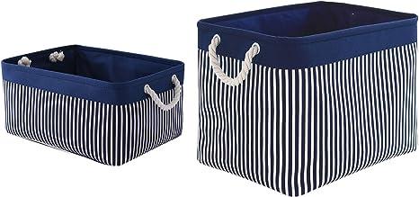 Cotton Toy basket Storage basket Toy Storage Basket for toys Navy blue flowers
