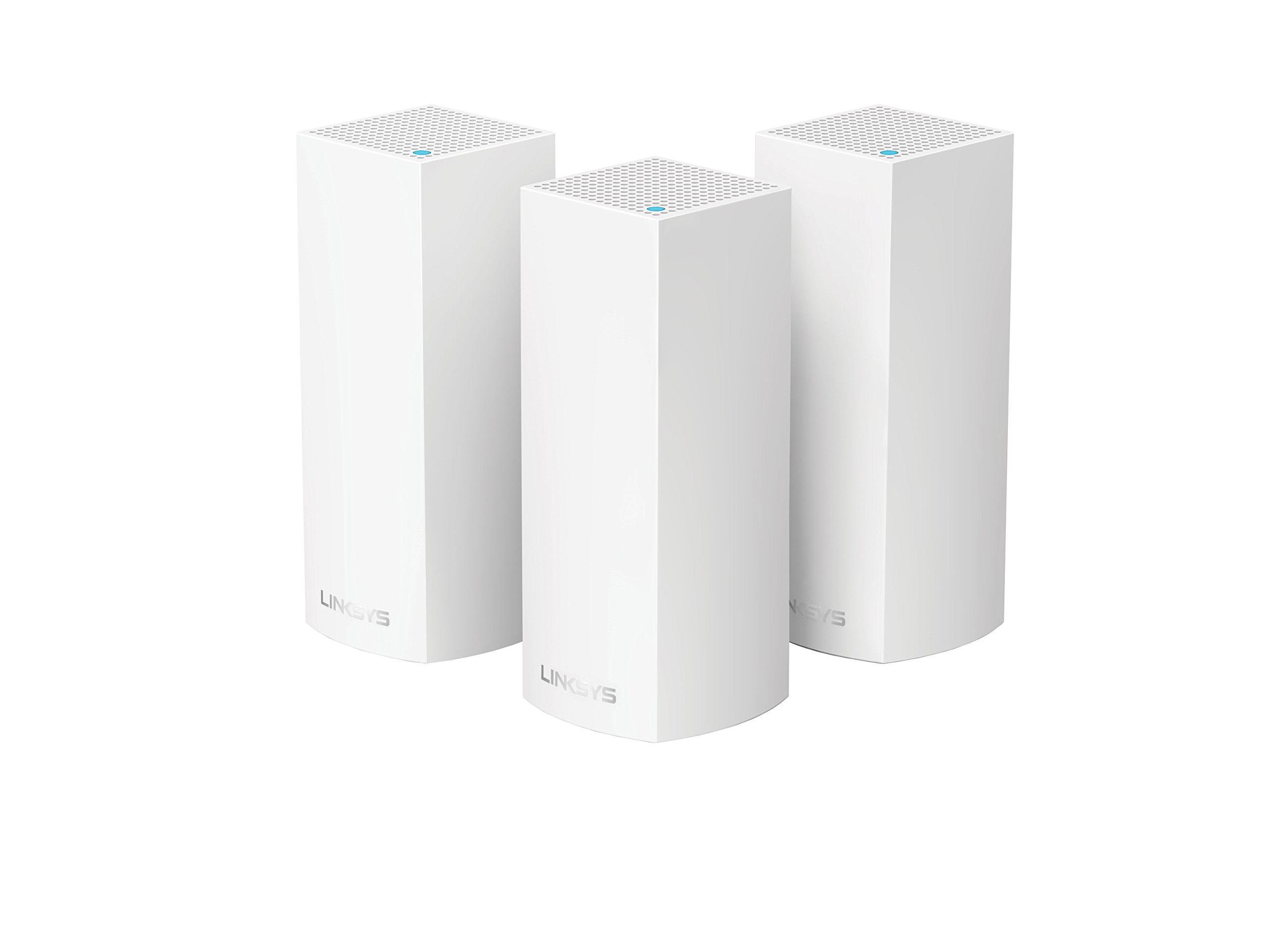 Linksys Velop Tri-band AC6600 Whole Home WiFi Mesh System- 3-Pack (coverage up to 6000 sq. ft) by Linksys