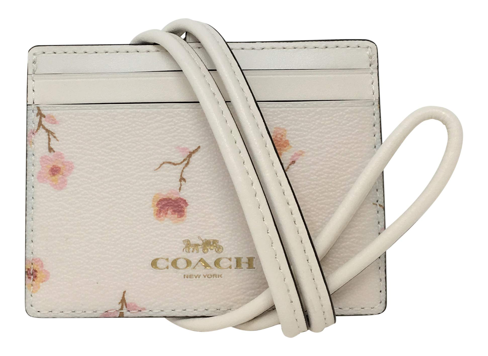 Coach Coated Canvas Lanyard Badge ID in Vintage Prairie Print Chalk F57095 by COACH (Image #1)