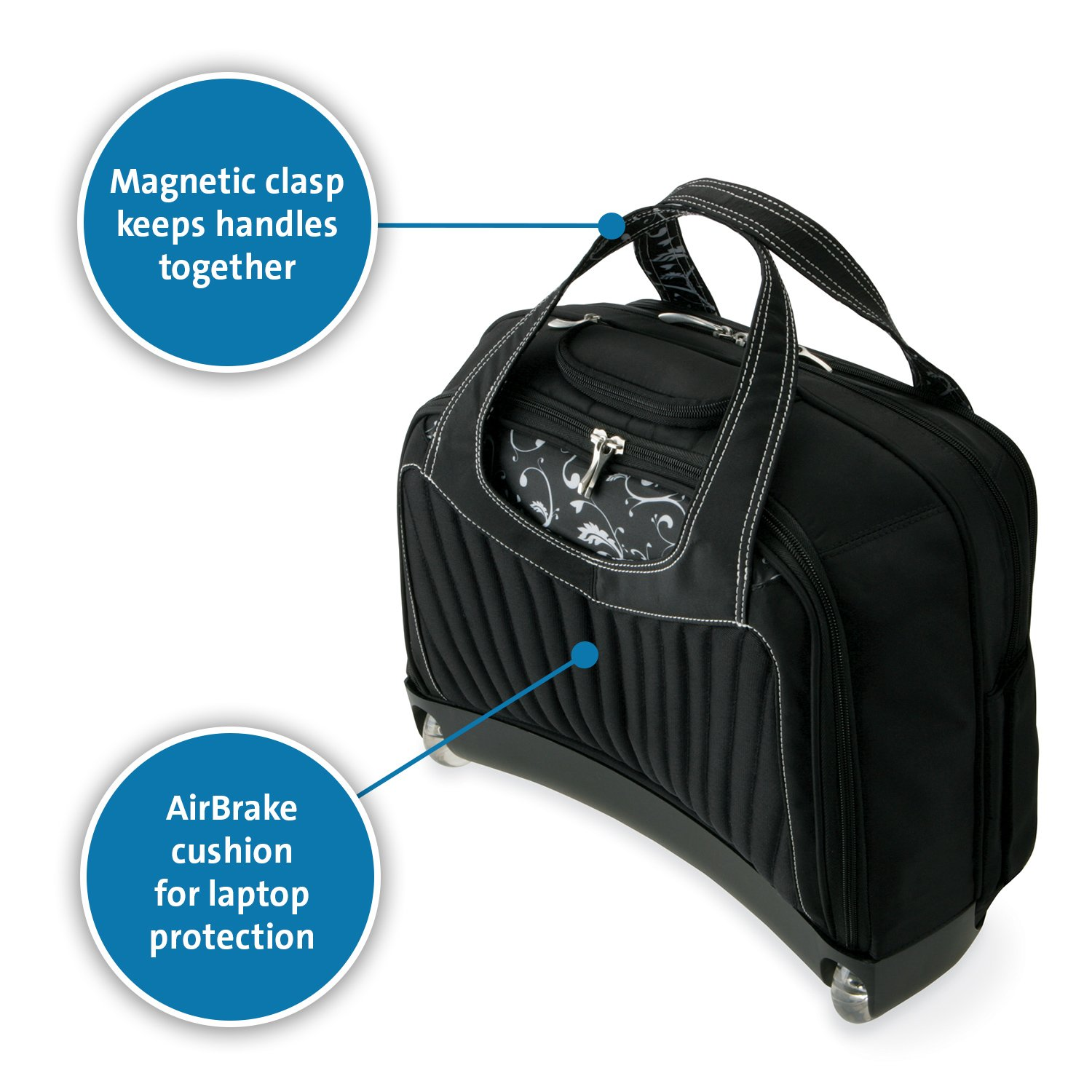 Kensington K62533US Contour Balance Notebook Roller Bag in Onyx, Fits Most 15-Inch Notebooks by Kensington (Image #3)