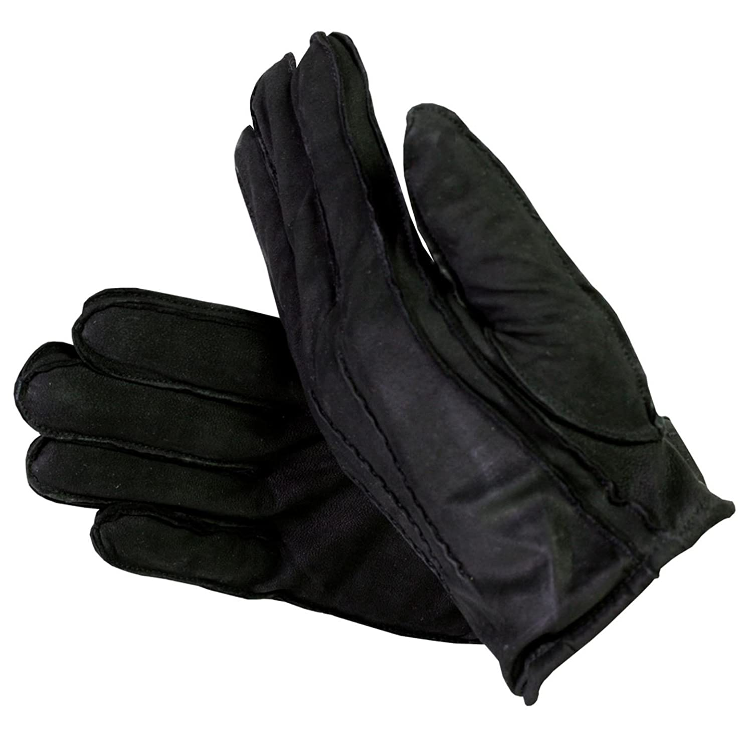 Isotoner womens leather gloves with fleece lining - Isotoner Men S Suede Leather Gloves With Thinsulate Lining Black X Large Good