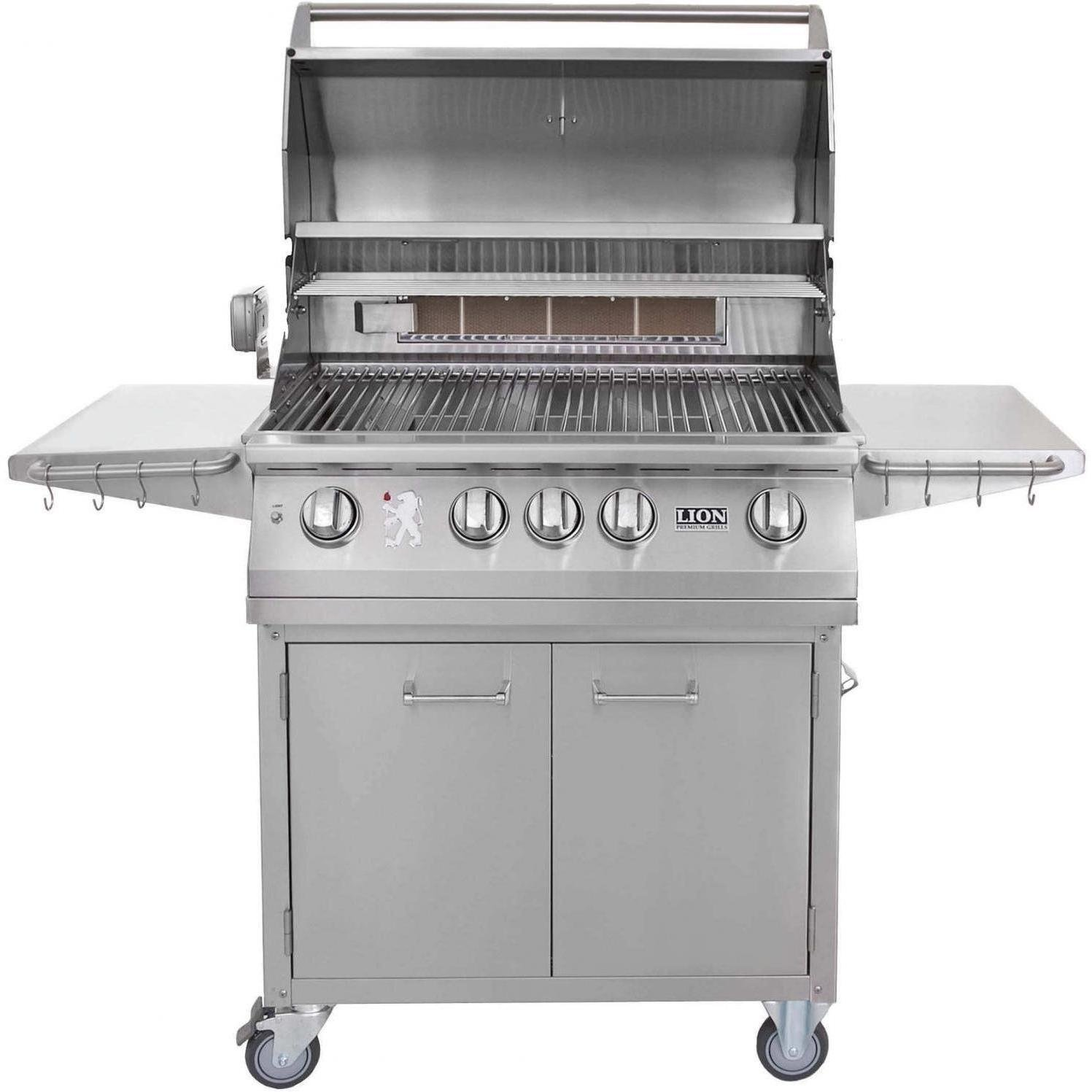 amazon com lion 32 inch stainless steel natural gas grill on cart