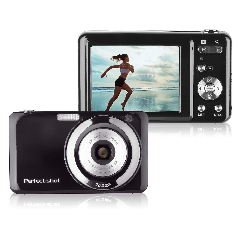 KINGEAR KG007 2.7 Inch TFT 5X Optical Zoom 15MP 1280x720 HD Anti-shake Smile Capture Digital Video Camera-Black