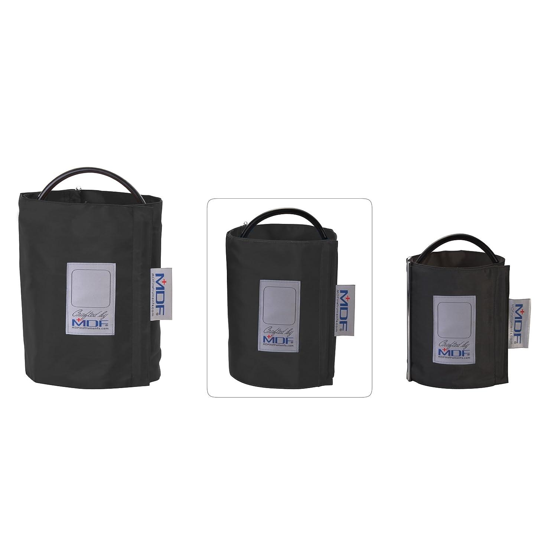 Manguito MDF® sin látex para presión arterial - Adulto grande - Un tubo - Anilla en D - Negro: Amazon.es: Salud y cuidado personal