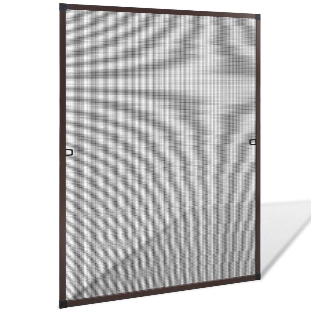caldo FZYHFA insetti per finestra 100 x 120 120 120 cm Marroneee zanzariera materiale  Alluminio + telaio in fibra di vetro cavo  molte concessioni