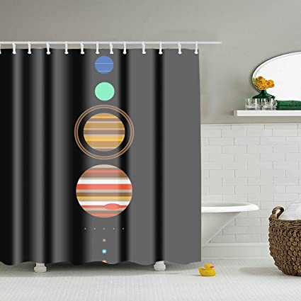 Image Unavailable Not Available For Color FGNZ Solar System Shower Curtain