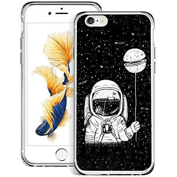 Amazoncom Iphone 6 6s Ultra Slim Case Astronaut Wallpaper