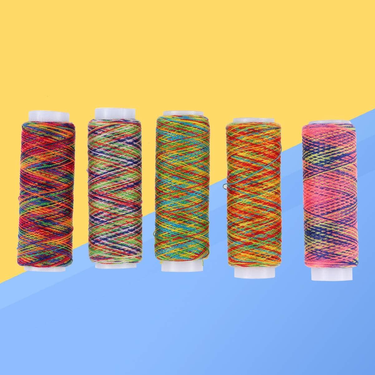 Artibest 5 rollos de hilo de coser de alta resistencia para bordar bordados para m/áquina de coser Overlock Quilting Bobina de hilo de coser de poli/éster