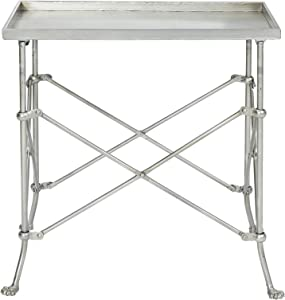 "Creative Co-op 20"" Metal Rectangle Table Occassional Furniture, Silver"