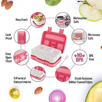 Tree-on-Life Fiambrera Bento para microondas Fiambrera para Picnic Comida Contenedor de Frutas Caja de Almacenamiento para ni/ños Adultos Contenedor de Almuerzo