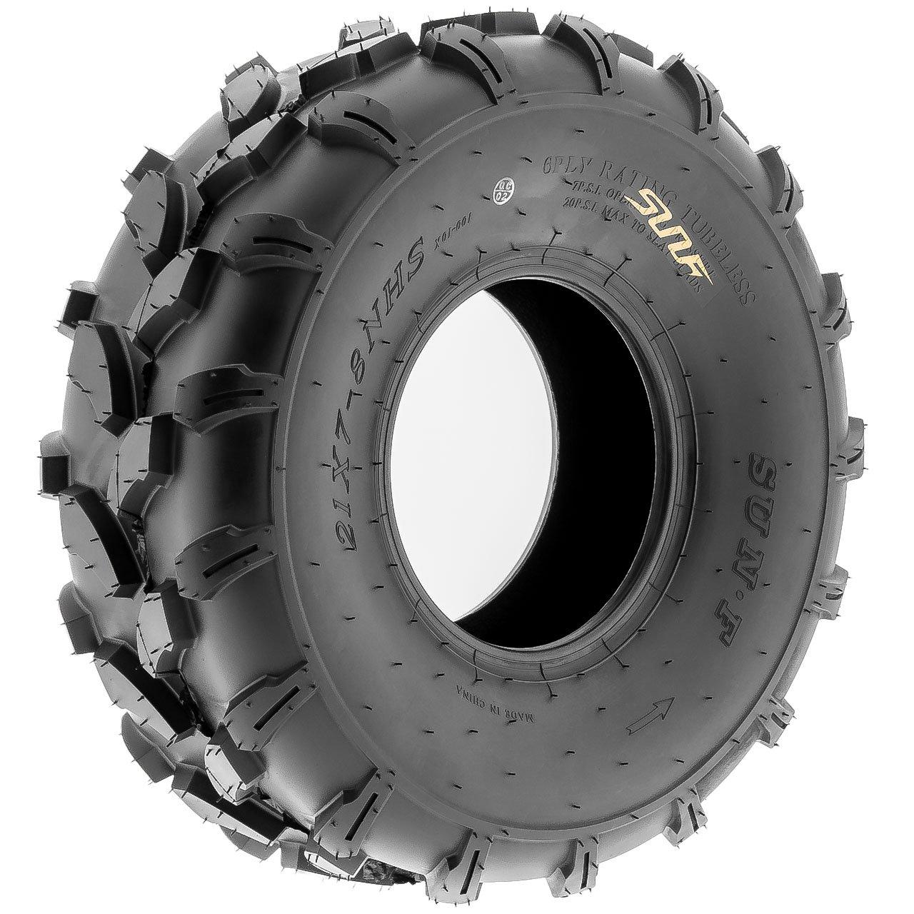 SunF A003 ATV/UTV/Lawn-Mowers Off-Road Tire 19x7-8, 6 PR, Directional Knobby Tread