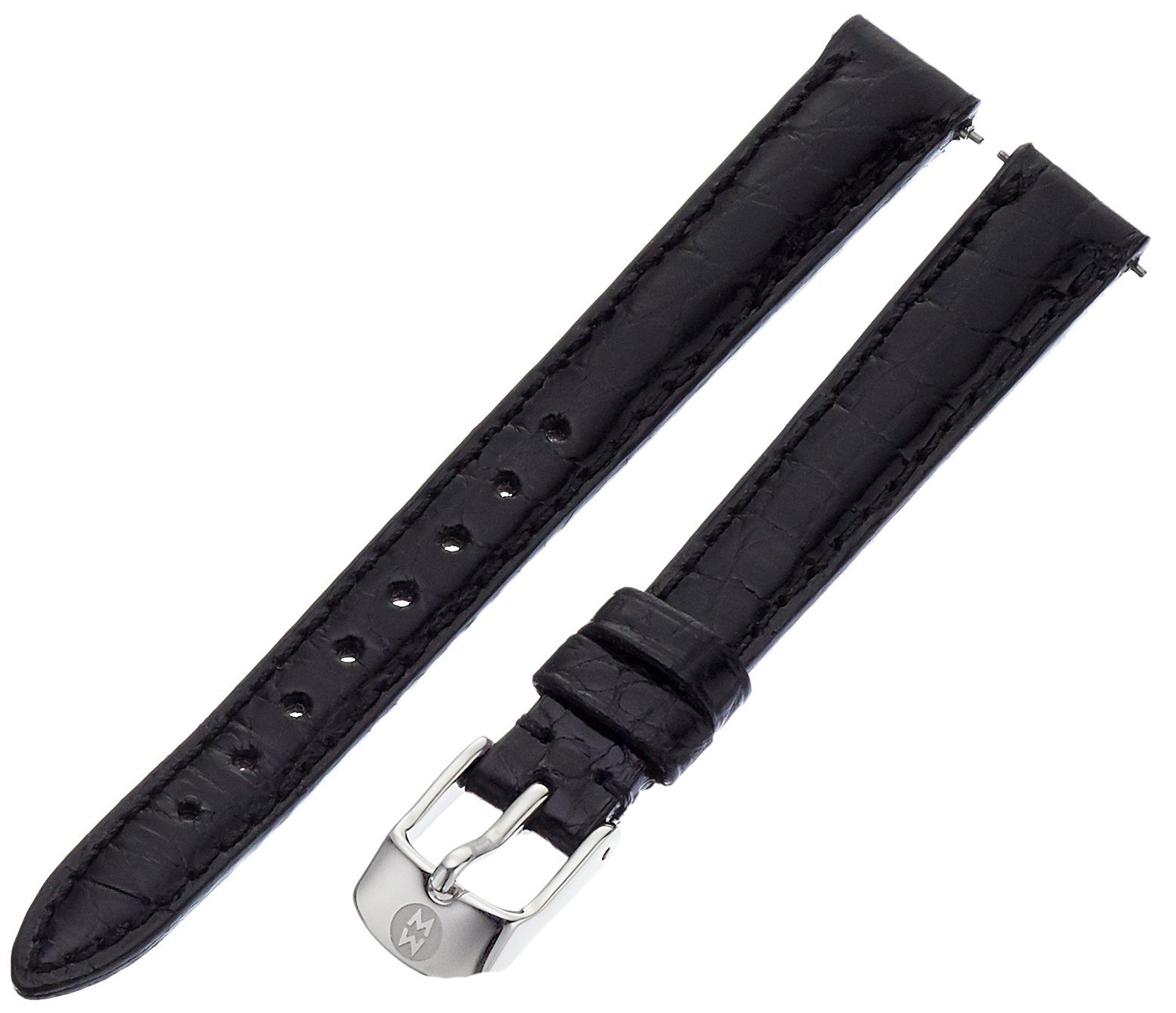 MICHELE MS12AA010001 12mm Watch Strap in Black Alligator Leather