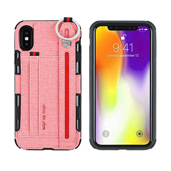 official photos 566bd 03290 Amazon.com: iPhone X Case,HuiFlying Premium PU Leather Shockproof ...