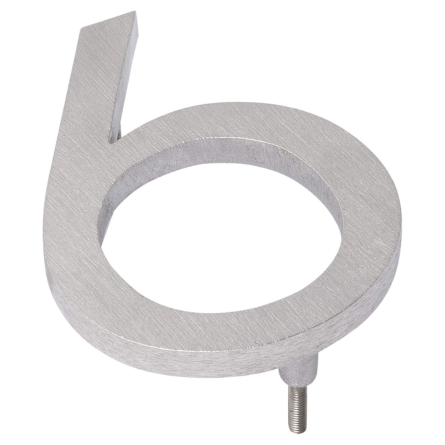 Montague Metal Products MHN-16-6-F-BA1 Floating House Number, 16'' x 11.63'' x 0.375'' Polished Aluminum