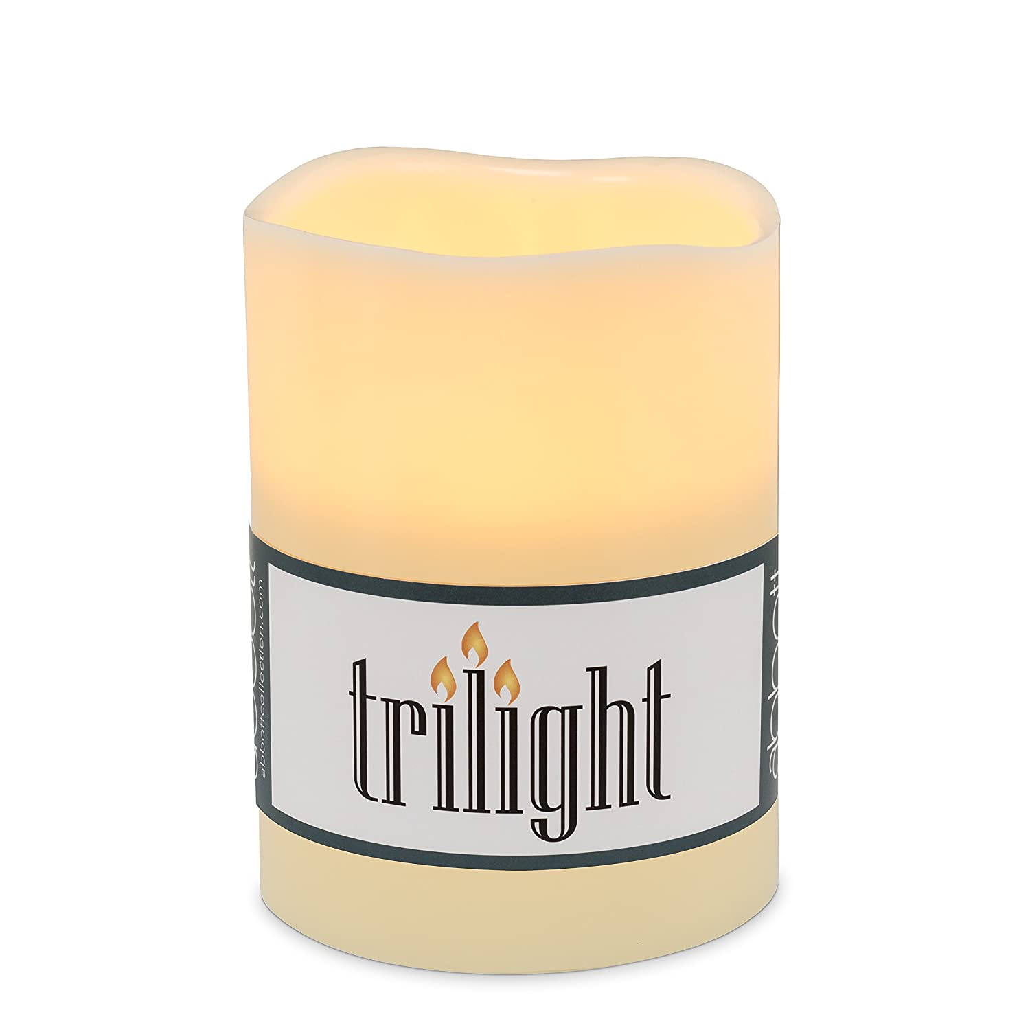 Abbott 27-TRILIGHT/MD Collection Triple Led Candle, Ivory NWICHI