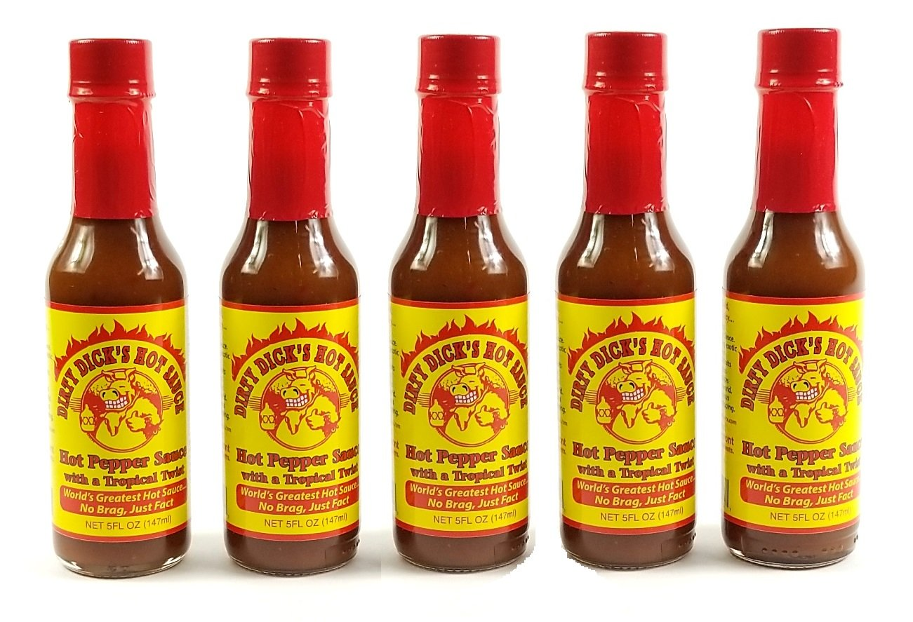 Dirty Dick's Tropical Twist Hot Sauce (5 PACK)