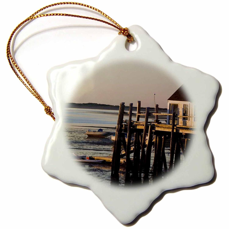 Porcelain US22 WBI0470 Provincetown Snowflake Ornament Harbor Cottage 3-Inch 3dRose orn/_90994/_1 MASSACHUSETTS Walter Bibikow