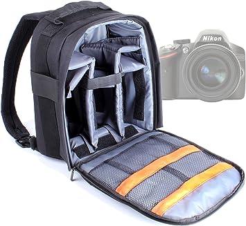 DURAGADGET Mochila Resistente con Compartimentos para Cámara Nikon ...