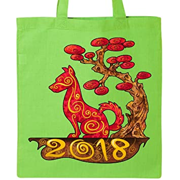 amazon co jp inktastic year of the dog 2018トートバッグ one