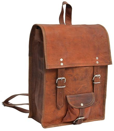 """4175b704e3 Gusti Cuir nature """"Joe"""" sac à dos en cuir sac ordinateur portable sac porté"""