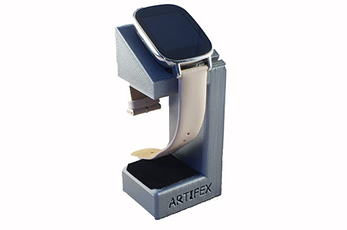 ASUS ZenWatch 2 Stand, Artifex Charging Dock Stand for ZenWatch2, New 3D Printed Technology, Smartwatch Cradle (Silver)
